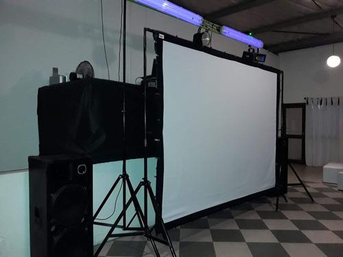 pantalla proyeccion gigante tela front-back 180 pulg 16:9
