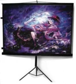 pantalla proyección multimedia mst152 84in 1.52x1.52m tripie