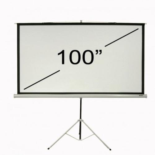 pantalla proyector con tripode loch ts100 portatil