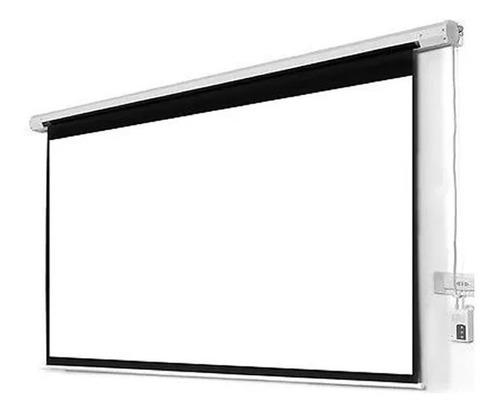 pantalla proyector electrica 100'' manual tela lona femmto