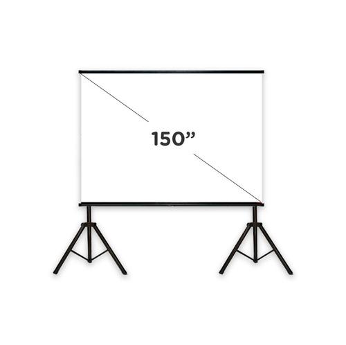 pantalla proyector femmto 150 manual con tripode tela lona