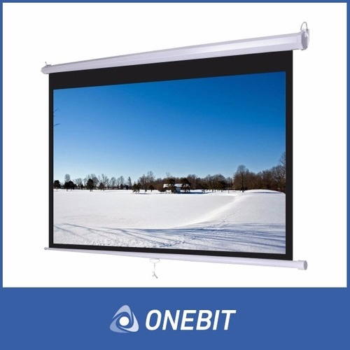 pantalla proyector femmto 150 pulgadas manual pared techo