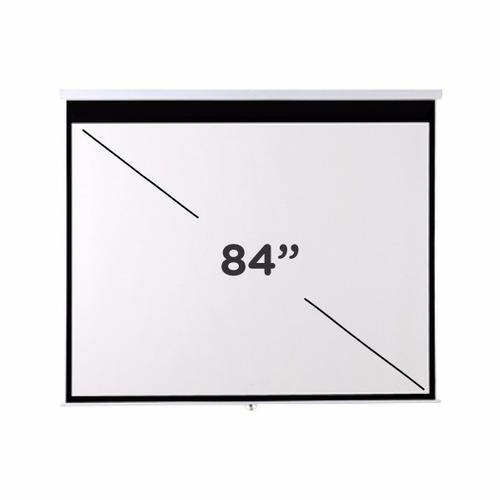 pantalla proyector femmto 84 pulgadas manual 4:3 pared techo