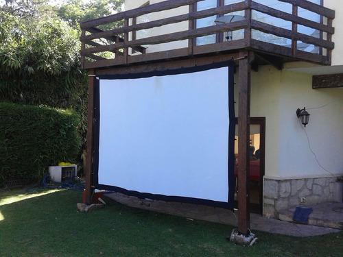 pantalla proyector gigante tela front-back 82 pulg 4:3