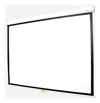 pantalla proyector manual vidium cbm100 cine hd 4:3