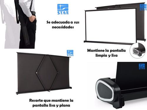 pantalla proyector plegable retractil portatil hd 50¨
