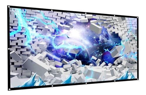 pantalla proyector proyector cftech 100 pulgadas 16: 9 hd pe