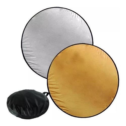 pantalla reflectora plegable colapsable 110 cm godox 2 en 1 dorado plateado con bolsa estuche