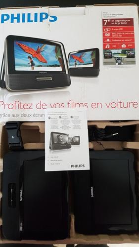 pantalla reproductor dvd para carro phillips 9  doble