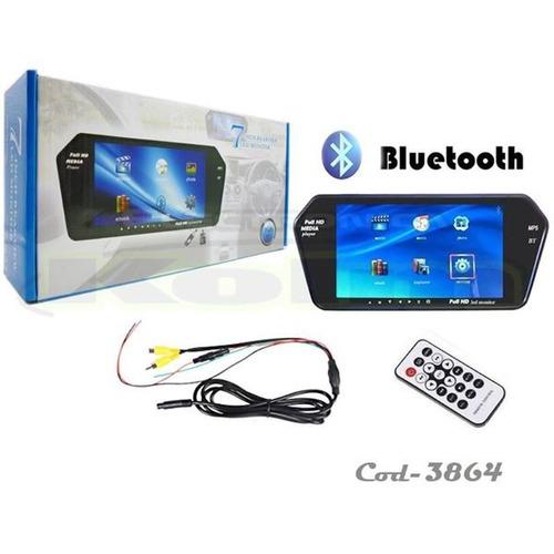 pantalla retrovisor con bluetoo, lector usb, sd, mp5 full hd
