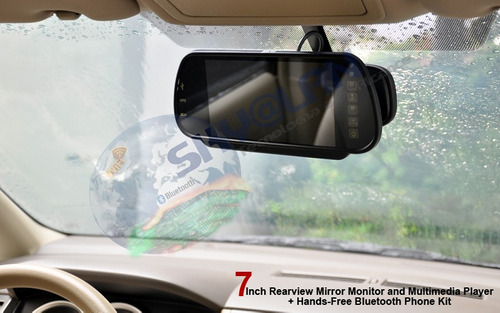 pantalla retrovisor de 7  bluetooh, mp4 multimedia