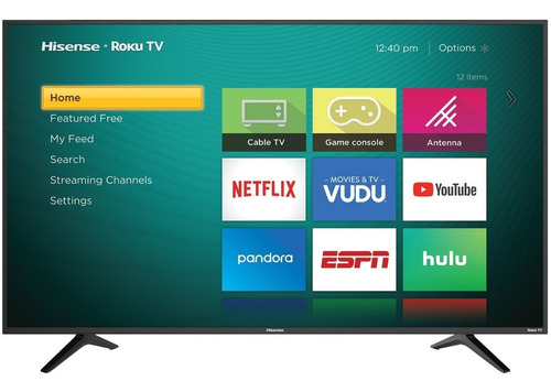 pantalla smart tv 43 hisense 43r6e roku tv 4k uhd hdr wifi