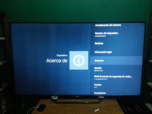 pantalla sony 80 pulg  con android bravia xbr80x850duhd