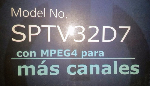 pantalla spectra 32 pulgadas led tv32d7md envio gratis