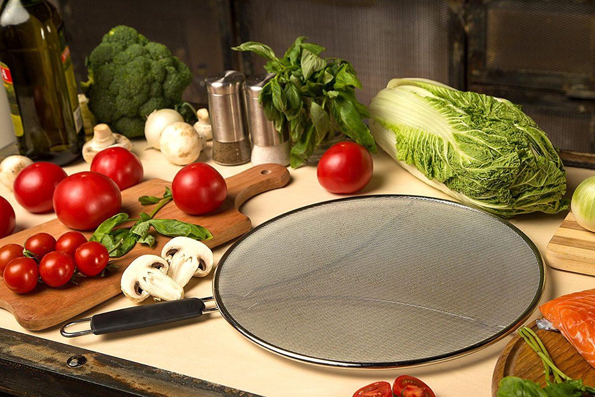 Pantalla Stén Hierro Mantiene Cocina Limpia Acero Inoxidable ...