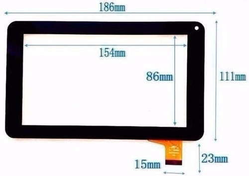 pantalla tactil touch vidrio para tablet 7 top house