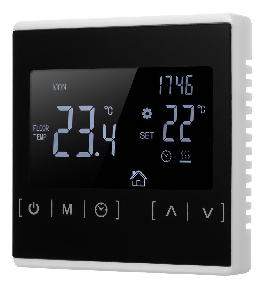 Termostato el/éctrico de la Pantalla t/áctil del LCD de la calefacci/ón de Piso con Control del App de la Ayuda del regulador de Temperatura de WiFi
