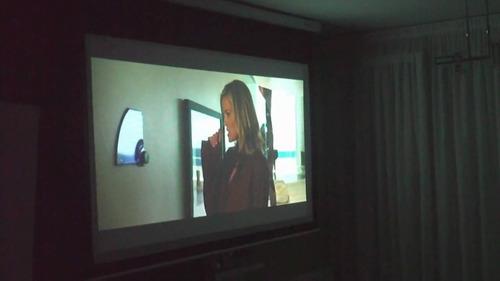 pantalla telón 180x180cm para proyector