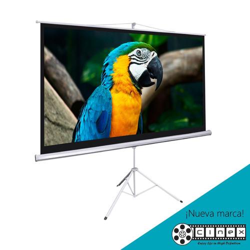 pantalla telón de proyección trípode 180x180 epson full hd