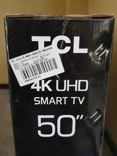 pantalla tlc 50 smart 4k uhd, hdr ,led