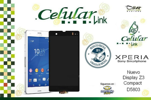 pantalla touch display cristal xperia z3 compact mini d5803