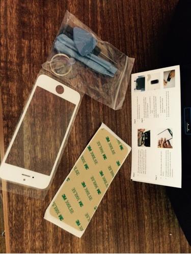 pantalla vidrio iphone 5,5c y 5s últimas unidades en blanco