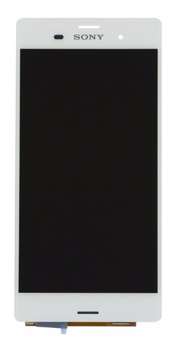 pantalla xperia z3 sony lcd display y vidrio touch colocada