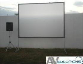 pantallaigante para video proyector back & front 3x3m.