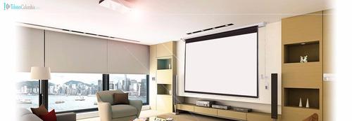 pantallas de proyeccion electricas 150  profesionales unicas