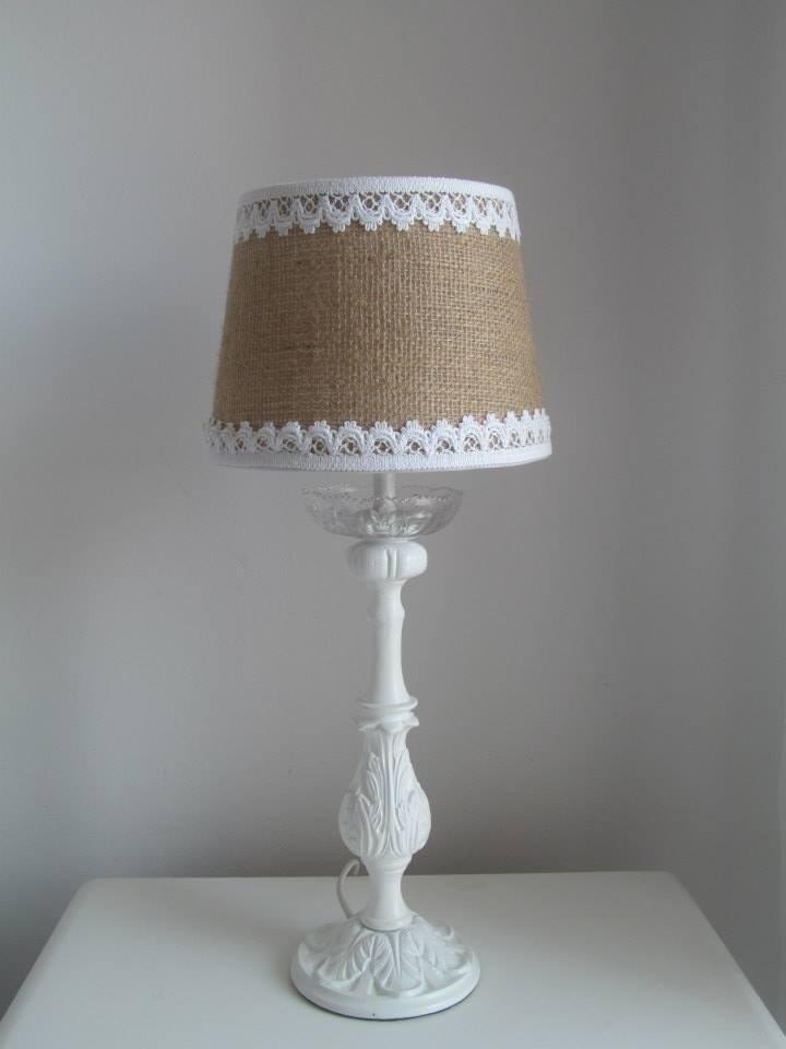 Pantallas lamparas fabrica iluminacion apliques arpillera for Decorar pantalla de lampara