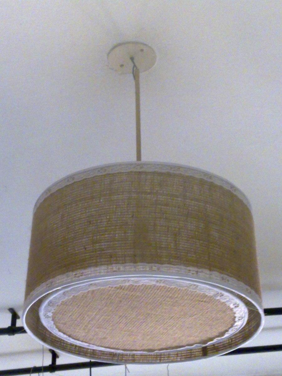 Pantallas lamparas fabrica iluminacion apliques arpillera 399 00 en mercado libre - Pantallas de lamparas ...
