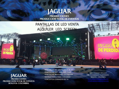 pantallas led gigantes p2.p4.p6.p10 indoor - outdoor