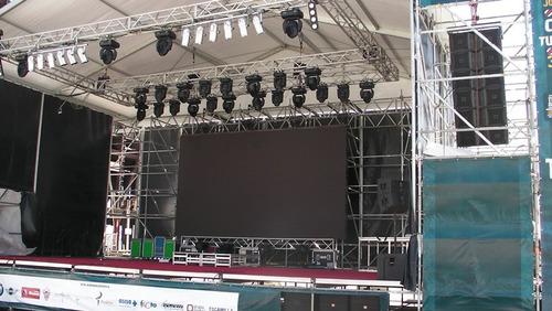 pantallas led p10 alquiler / montaje / rental.