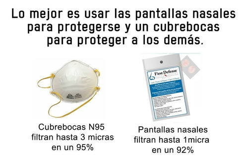 pantallas nasales first defense (filtros nasales)