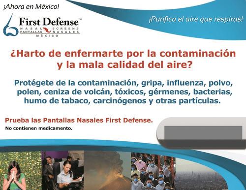 pantallas nasales first defense (filtros nasales)