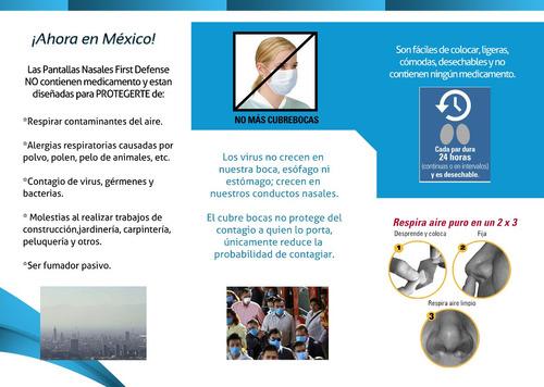 pantallas nasales (protégete de la contaminación) 3 paquetes