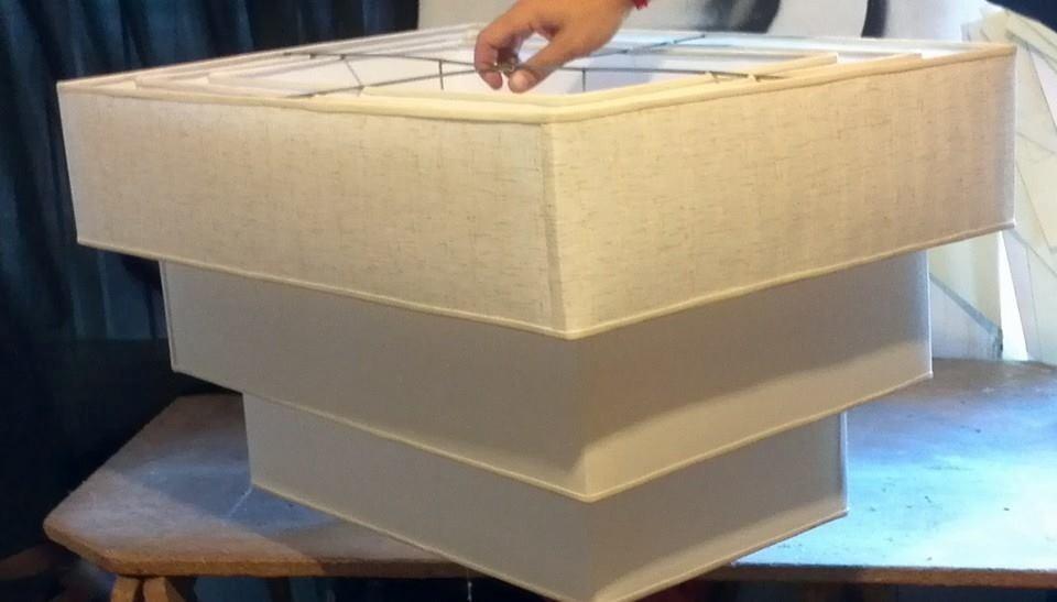 Pantallas para lamparas colgante doble artesanal fabrica for Fabricas de muebles en montevideo uruguay