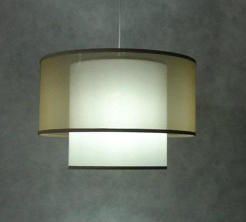 pantallas para lamparas,colgante doble,artesanal,fabrica