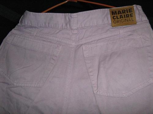pantalón a la cintura morado marie-claire bordados talla 38