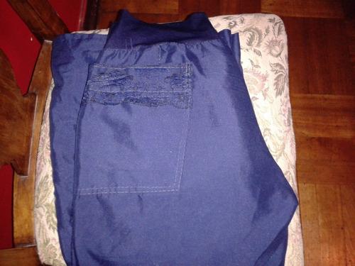 pantalón a la cintura tela azul marino mujer talla 38