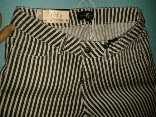pantalon a rayas blanco y negro