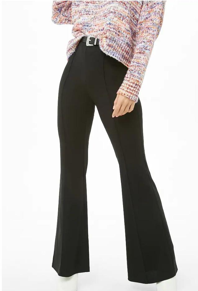 Forever Mujer Negro 21 S Pantalon Acampanado Zara Estilo PkZiTOXu