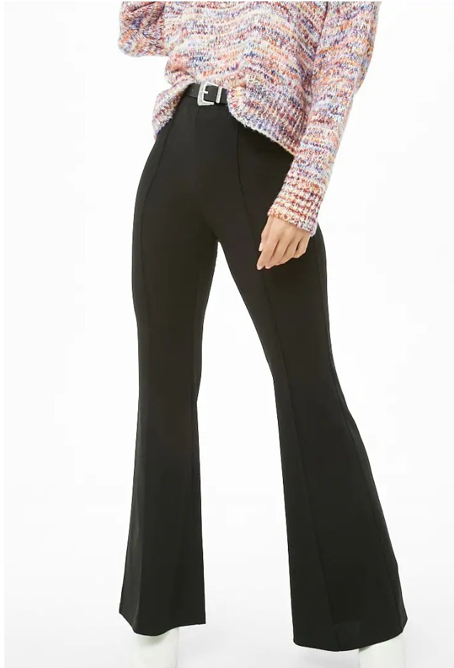 936bc660f Pantalon Acampanado Mujer Negro S Forever 21 Estilo Zara