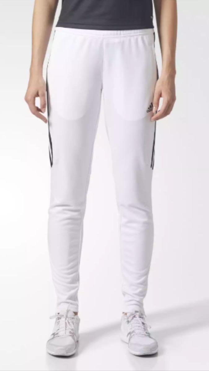 20a14a37051 pantalón adidas chupin tiro 17. blanco  negro. Cargando zoom.