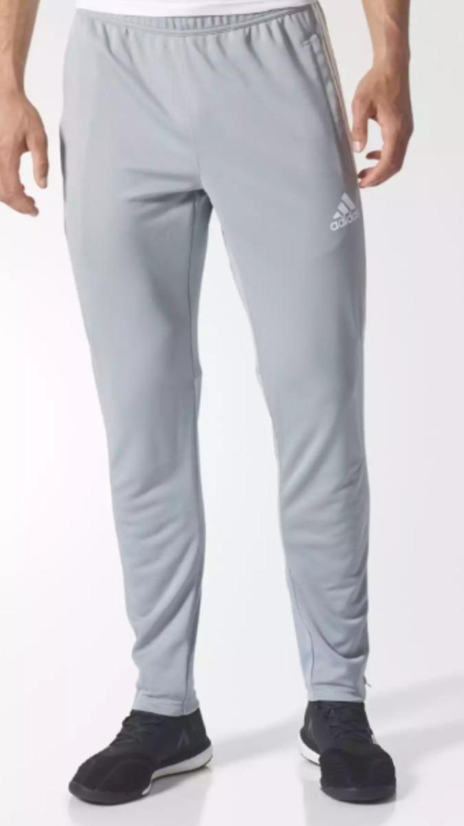 7bf957289d1 pantalón adidas chupin tiro 17. gris claro  blanco. Cargando zoom.