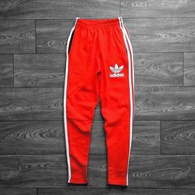 Pantalon adidas Retro Vintage Rojo Con Cierre