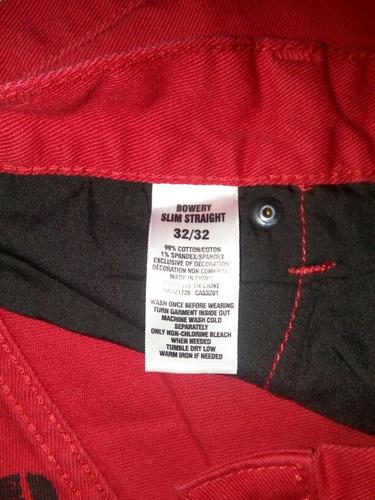 pantalón aeropostale rojo (original)