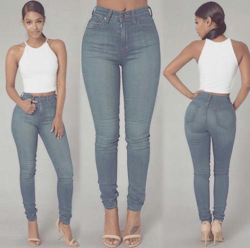pantalon alto de damas
