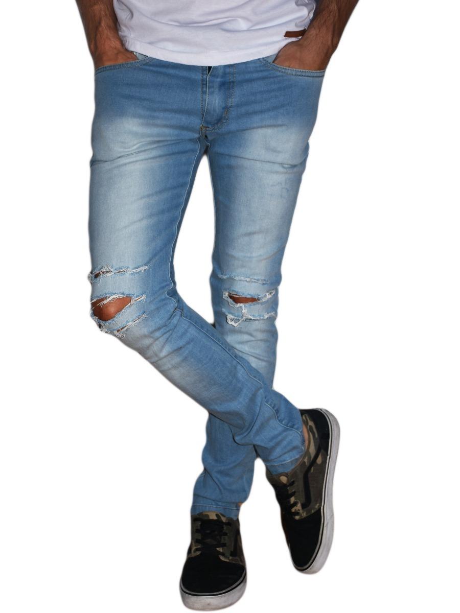 fa7dce220b pantalon azul jean roto claro hombre micro centro obelisco. Cargando zoom.