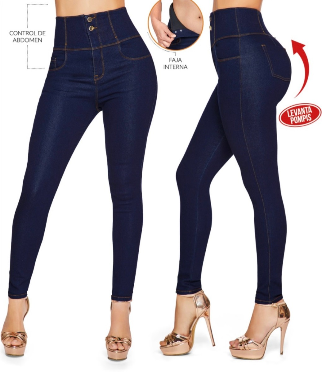 7c2df2edc Pantalon Azul Mezclilla Cintura Alta Cklass 349-52 -   780.00 en ...